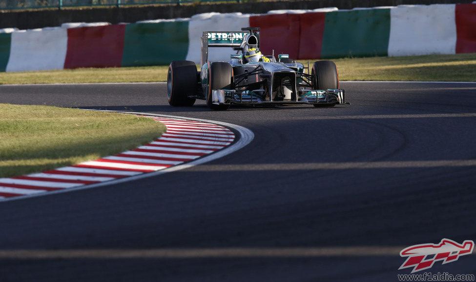 Nico Rosberg luchó pero al final sólo pudo salvar dos puntos
