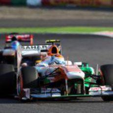 Adrian Sutil tuvo un complicado día en Suzuka