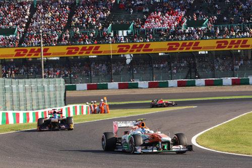 Adrian Sutil afronta el primer sector de Suzuka