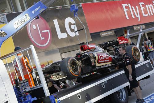 Kimi Räikkönen se quedó sin gasolina tras el GP de Japón
