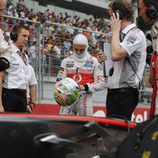 Sergio Pérez se prepara para el Gran Premio de India