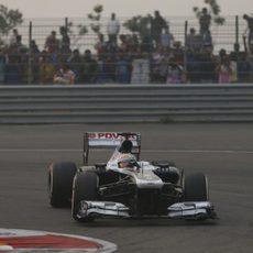 Pastor Maldonado se acercó a los puntos en la India