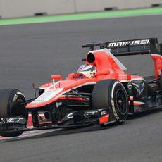 Jules Bianchi cruzó 18º la meta en la India