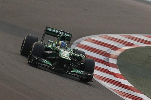 Charles Pic avanza en el Buddh International Circuit