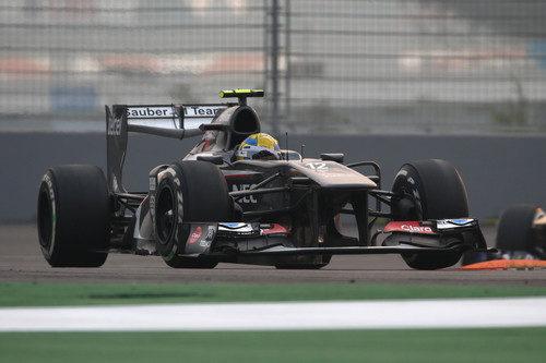Esteban Gutiérrez no puntuó en la India