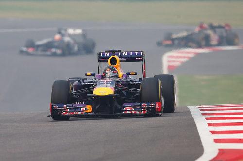 Sebastian Vettel lideró en la India