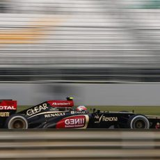 Romain Grosjean alcanzó un nuevo podio