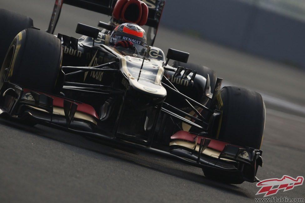 Kimi Räikkönen perdió fuelle al final del GP de India