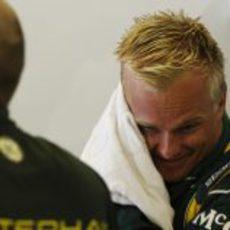 Heikki Kovalainen presente en el GP de Abu Dabi 2013