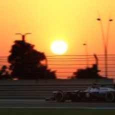 Pastor Maldonado ve como atardece desde su FW35