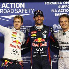 Mark Webber, Sebastian Vettel y Nico Rosberg, los más rápidos