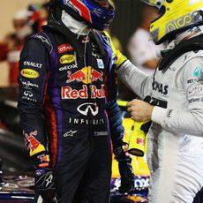 Nico Rosberg felicita a Mark Webber
