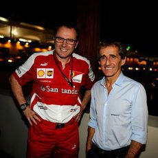 Stefano Domenicali posa junto a Alain Prost