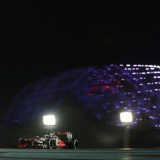 Jenson Button no pudo puntuar en Abu Dabi
