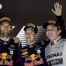 Vette, Webber y Rosberg en el podio de Abu Dabi
