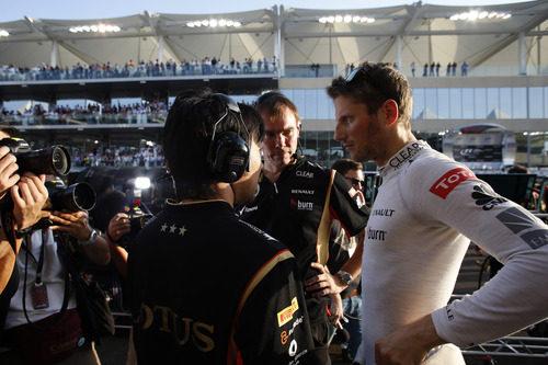 Últimas indicaciones para Romain Grosjean en la parrilla