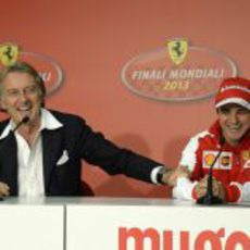 Luca di Montezemolo junto a Felipe Massa