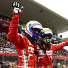 Marc Gené y Felipe Massa en Mugello