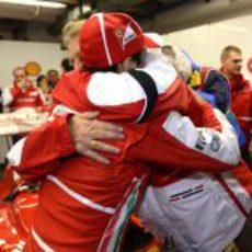 El último abrazo con Luca di Montezemolo