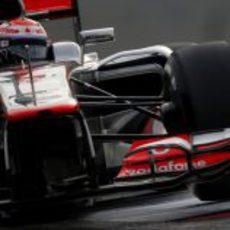 Kevin Magnussen rueda con McLaren