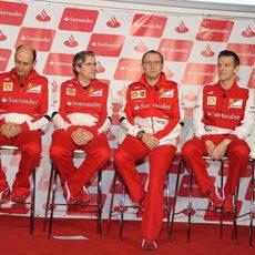 James Allison, Luca Marmorini, Stefano Domenicali y Pat Fry, juntos