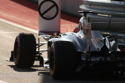 Nico Hülkenberg a la salida del pitlane del Circuito de las Américas