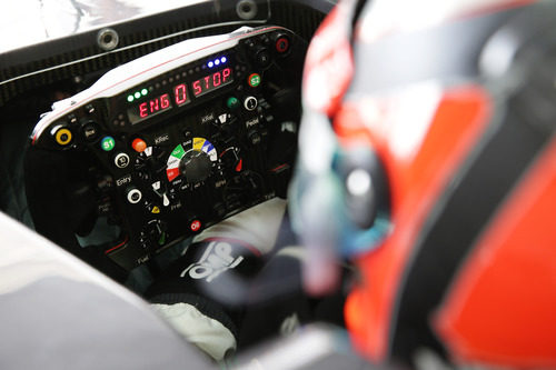 Motor parado en el Sauber C32 de Nico Hülkenberg