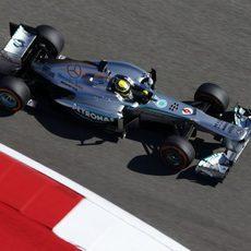 Nico Rosberg acabó el primer día satisfecho