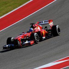 Bajada en el COTA para Fernando Alonso