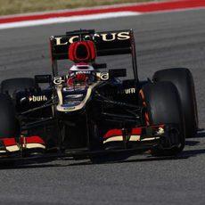 Heikki Kovalainen traza una de las curvas del Circuito de las Américas