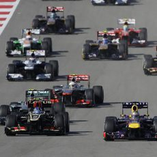 Salida del Gran Premio de Estados Unidos 2013