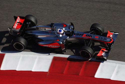 Jenson Button rodando en Austin
