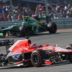 Jules Bianchi se impuso a los Caterham en Austin