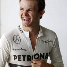 Nico Rosberg se ríe