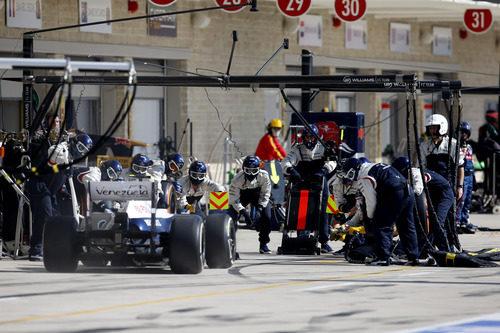 Williams se prepara para una parada de Valtteri Bottas
