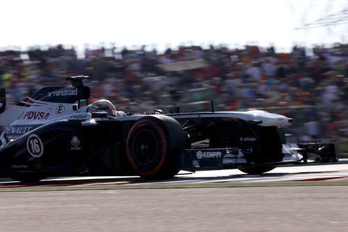 Pastor Maldonado no empezó bien la carrera en Austin