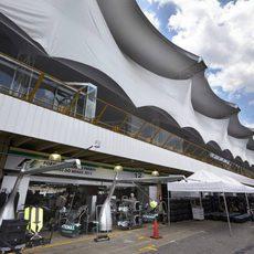 Pitlane del circuito de Interlagos