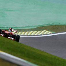 Fernando Alonso rueda al máximo con su F138