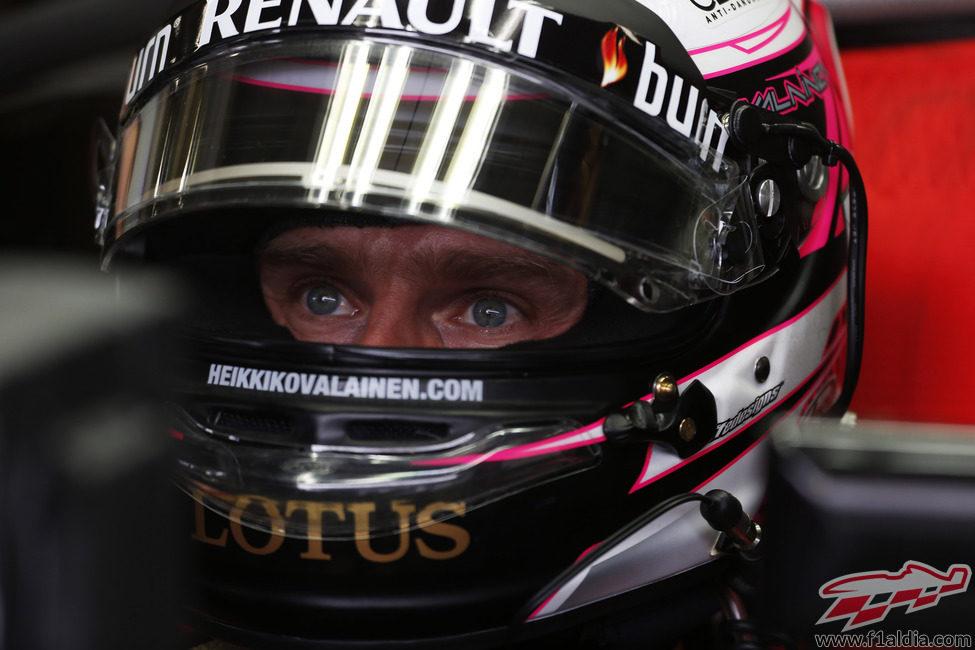 Heikki Kovalainen, concentrado