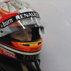 Primer plano de Romain Grosjean