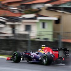 Neumático intermedio para Sebastian Vettel