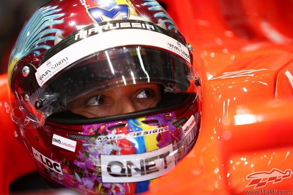 Rodolfo González subido al Marussia una vez más