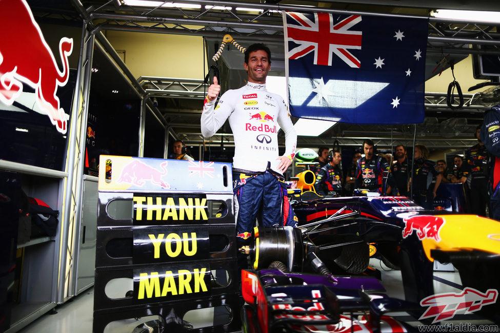 Red Bull se despide a Mark Webber