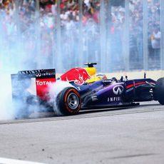 Más donuts de Sebastian Vettel en Brasil