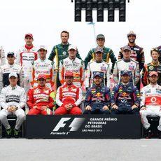 Los 22 pilotos despiden la temporada 2013