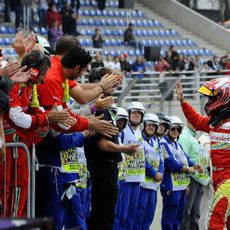 Felipe Massa termina su última carrera con Ferrari