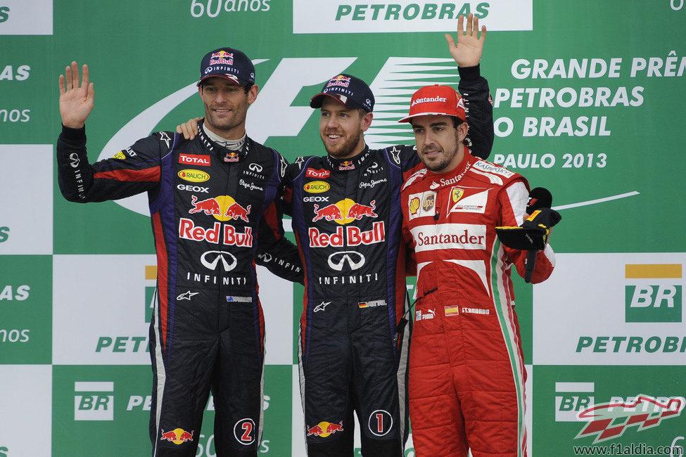 Podio del GP de Brasil 2013