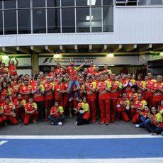 Foto final del equipo Ferrari