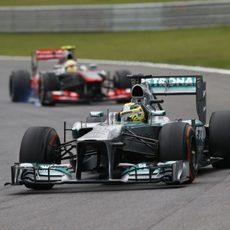 Nico Rosberg no pudo firmar podio en Brasil