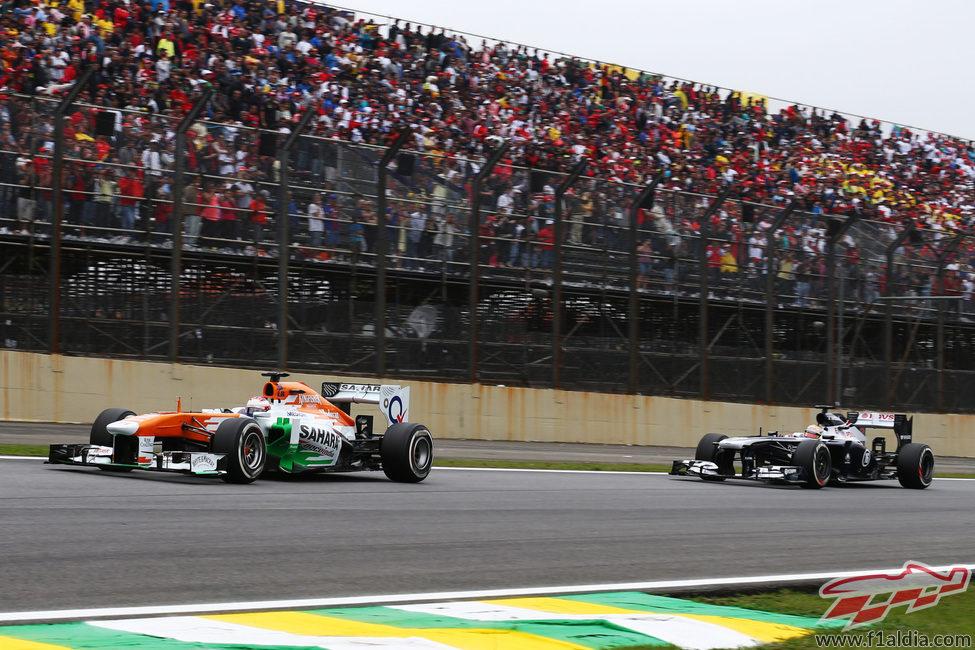 Paul di Resta rozó los puntos en Brasil